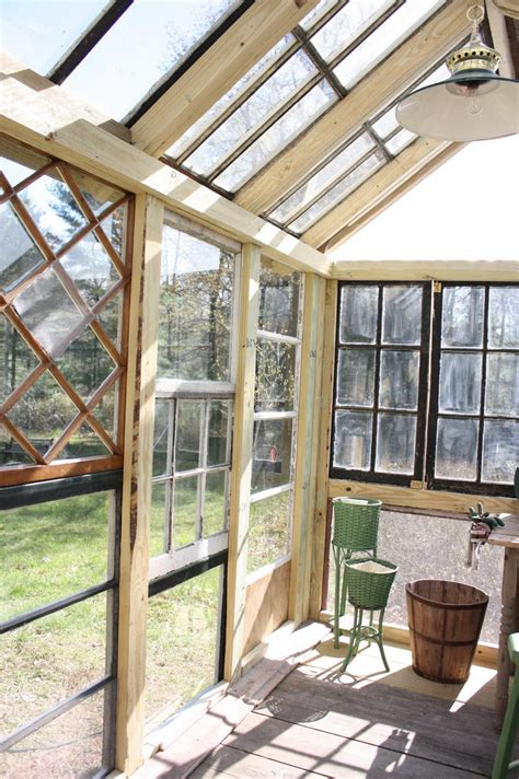 Greenhouse From Salvaged Windows Decor Greenhouse With Salvaged Windows Garden Shed Pinterest Greenhouses Arbor Gate And Window