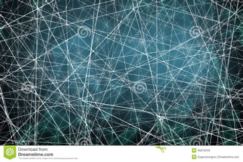 triangle mesh pattern chaotic blurred lines pattern on blue background stock