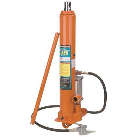 ton long ram air hydraulic jack