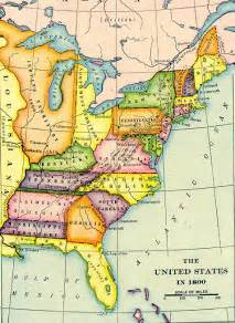 United States Map 1800 by Map Of The United States In 1800