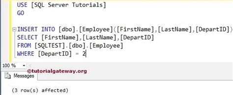 insert query in sql tutorial sql insert into select statement