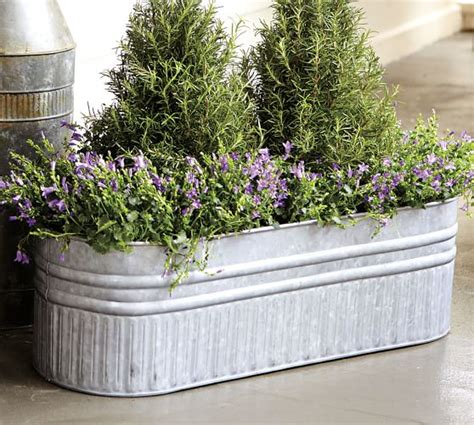 Galvanized Metal Planters Large by Eclectic Galvanized Metal Planter X Large Barrel Metal