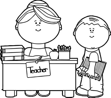 teacher and student coloring pages coloring pages