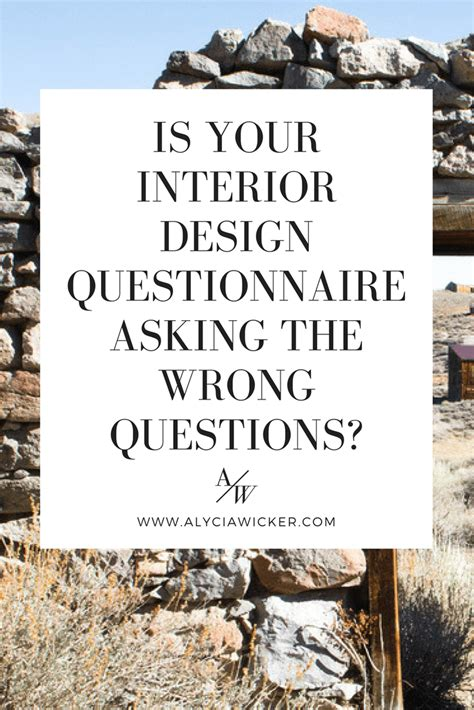 interior design questionnaire   wrong