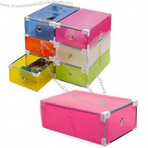 Plastic Drawer Box by Plastic Shoe Box With Transparent Colorful Storage Box