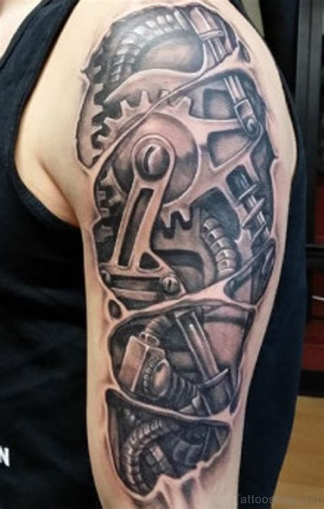 mechanic tattoo designs 92 innovative bio mechanical tattoos on shoulder
