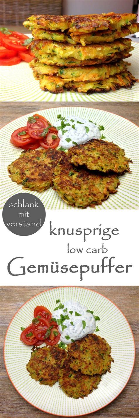 low carb Gemüsepuffer Low carb gerichte Rezepte und