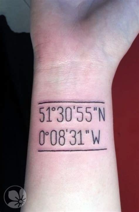 tattoo digital numbers 66 adventure coordinates tattoo ideas for your next trip