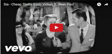 32 cheap thrills sia featuring sean paul l amore per la musica sia cheap thrills lyric video
