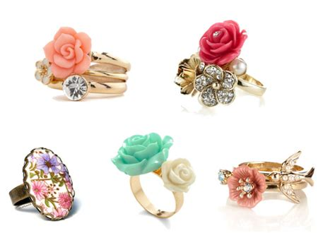 rings with flowers pearls flower rings designs for