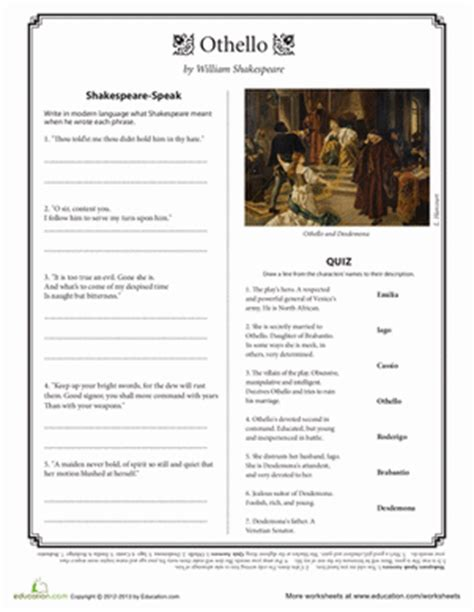 critical essays major themes in othello othello quotes worksheet education com