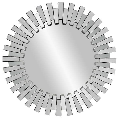 Mod Home Decor modern faceted round wall mirror modern mirrors by