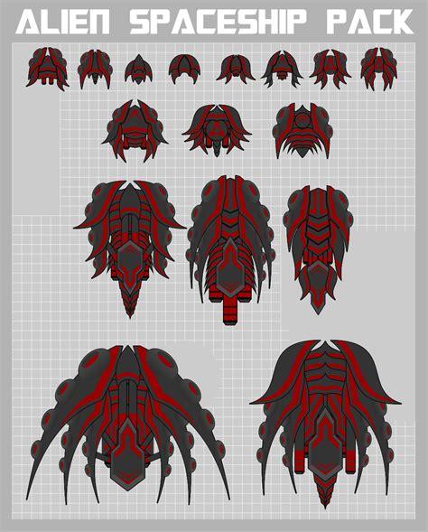 alien spaceship sprite pack opengameartorg