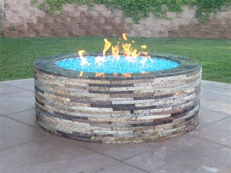 Glass Firepit Bahama Blue Reflective Pit Glass 1 Lb