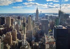 cityscape new york skyline empire state building