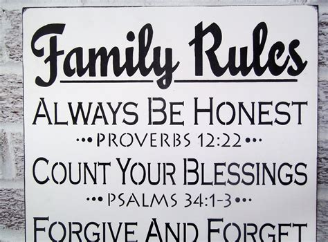 Bible Verses For The Home Decor by Scripture Art Christian Art Quot Family Rules Quot Sign Large