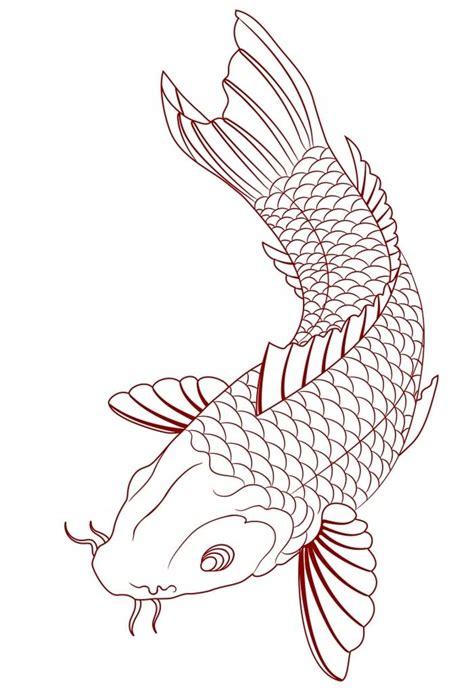 simple koi tattoo simple koi fish tattoo sketch tats pinterest koi