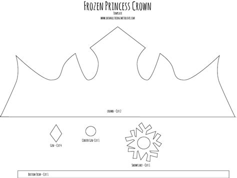 princess cut out template princess crown template cut out