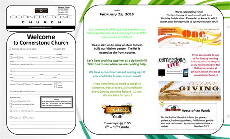 Church Food Pantry Mission Statement by Milan Bulletin Cornerstone Church