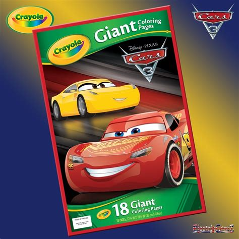 crayola giant coloring pages cars crayola cars 3 giant colouring pages