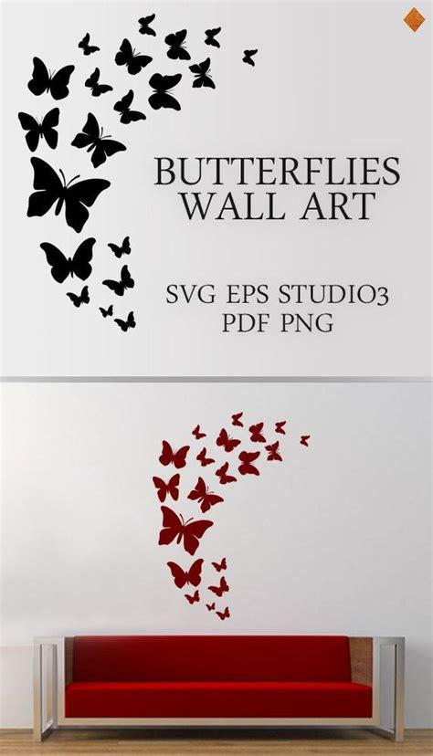butterflies wall art svg butterfly flock wall mural living