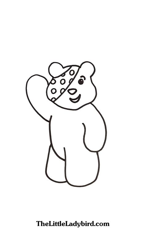 pudsey bear template printables choice image templates