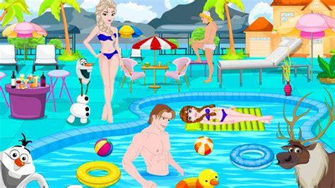 princess home decoration games disney princess frozen frozen pool party decoration