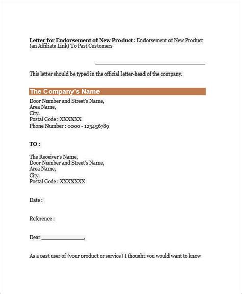 endorsement letter template letter of endorsement template gdyinglun