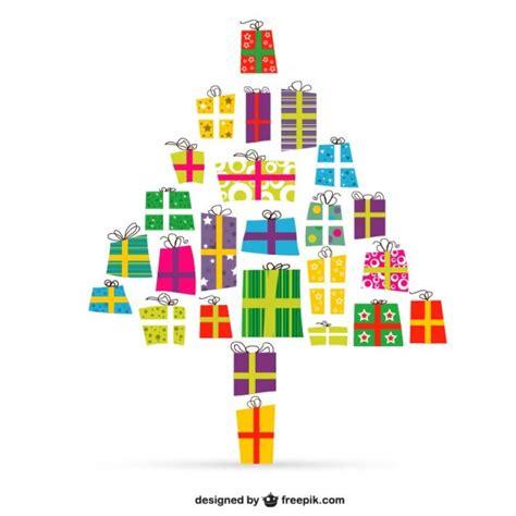 193 rbol de navidad con regalos vector descargar vectores