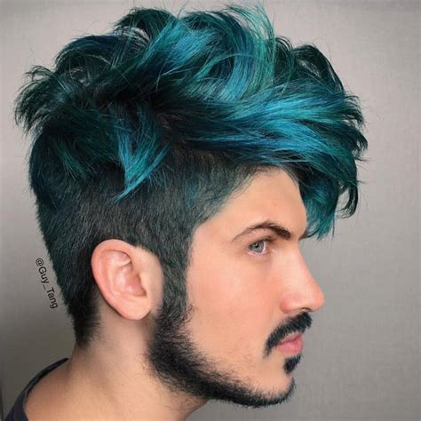 boy color with blue ombre hair color trends is the silver grannyhair style