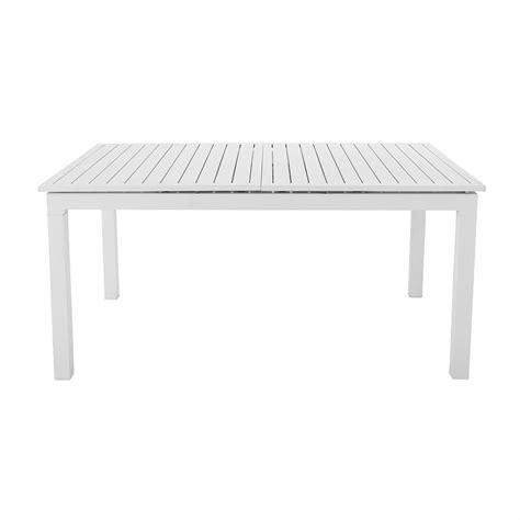 tavoli in alluminio tavolo allungabile bianco da giardino in alluminio l da