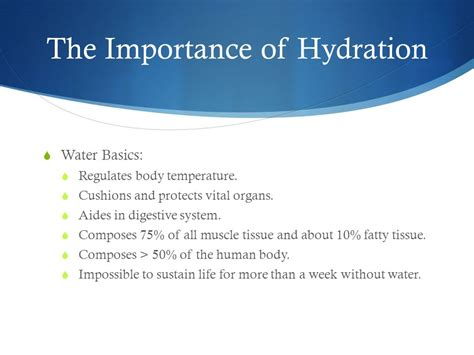 hydration importance presented by kennedy rdn ldn quinn rdn ldn