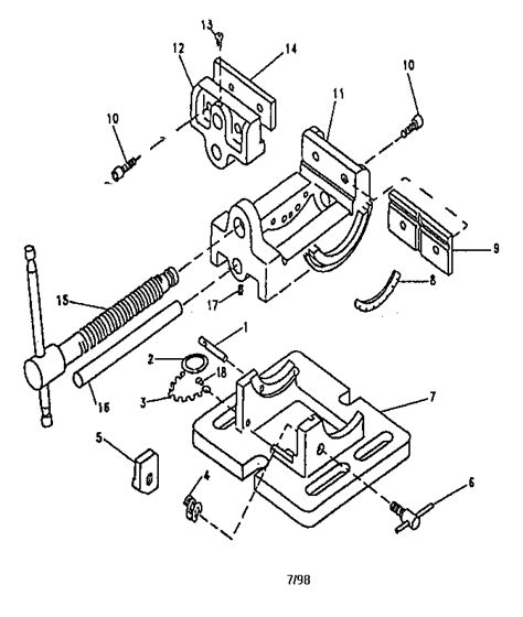 craftsman bench vise parts craftsman 2 1 2 quot angle vise parts model 351252641