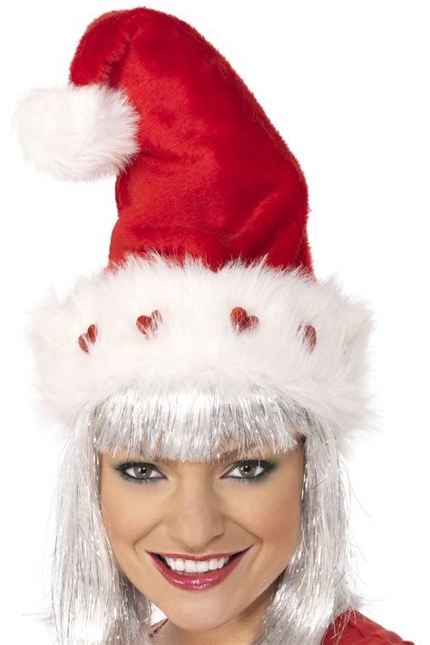 luxury santa hat luxury hat for adults hats and fancy dress costumes vegaoo