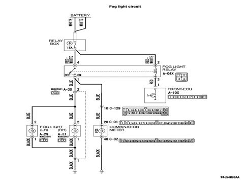 mesmerizing mitsubishi lancer fog light wiring diagram