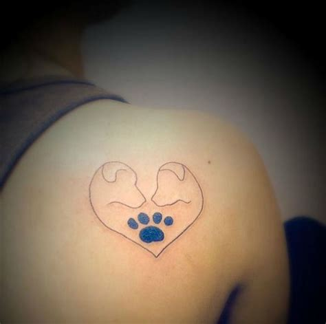 tattoo heartbeat dog 41 dog tattoos to celebrate your four legged best friend