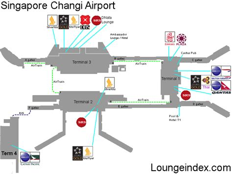 sin singapore airport guide terminal map lounges bars
