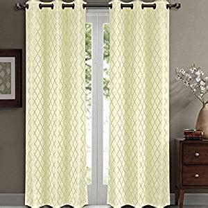 hotel window curtains com willow jacquard ivory grommet blackout window