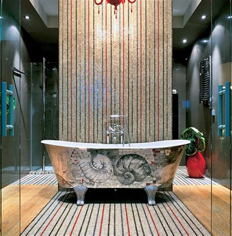 glittering and luxurious mosaic tiles transform modern