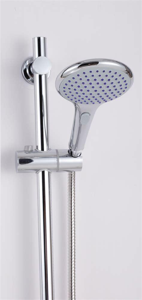 Held Shower Holder by Chrome Shower Holder Riser Rail Bar With Held Shower And Hose