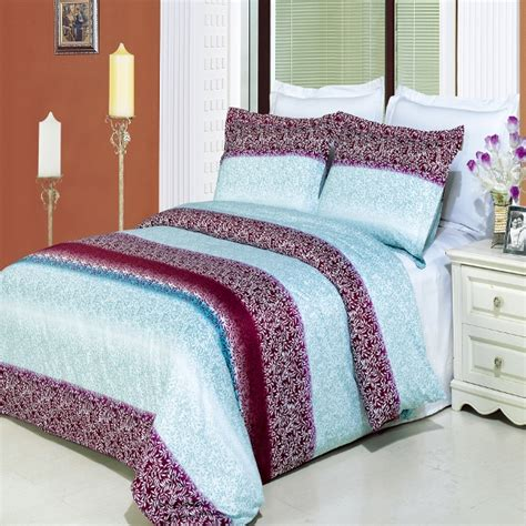 4pc mauve aqua modern floral 300tc egyptian cotton