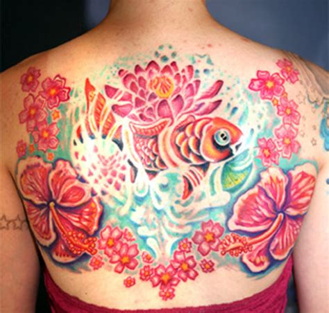 tattoo flower water hyperspace studios tattoos nature water fish in
