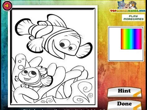 finding nemo coloring pages games finding nemo coloring pages for kids finding nemo