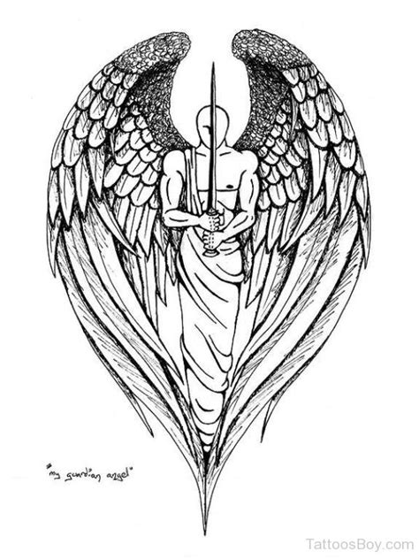 guardian angel tattoo designs for men guardian tattoos designs pictures
