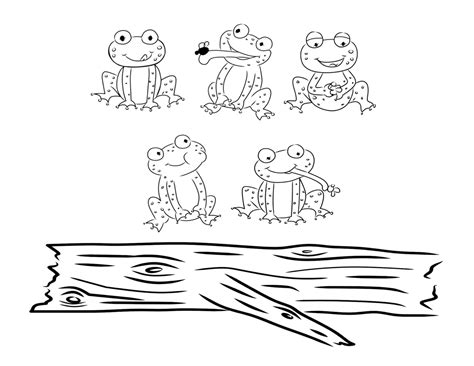 five speckled frogs coloring page free coloring pages of 5 speckled frogs