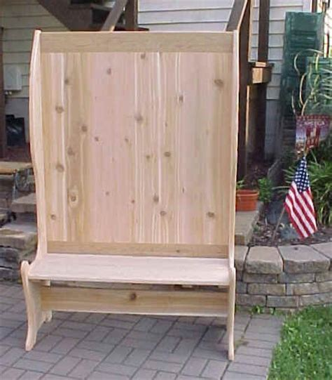 caign storage bench deacons bench