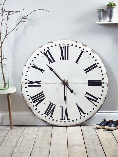 giant clocks industrial metal clock mad about the house