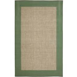 Walmart Indoor Outdoor Rugs Mainstays Indoor Outdoor Rug Green Border Walmart