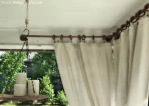 Curtain rod ideas side porch ideas for summer and an industrial