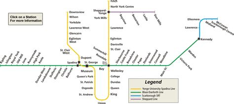 printable map toronto subway toronto subway map ttc stations route maps